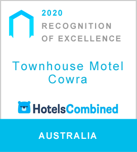 2020 Hotels Combined Recognition of Excellence badge for Townhouse Motel Cowra